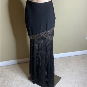 Venus Black and Gold Long Skirt Size Small